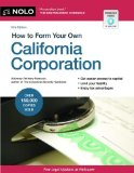How to Form Your Own California Corporation  15th 2013 edition cover