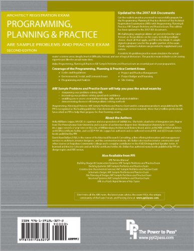 Programming, Planning and Practice: ARE Sample Problems and Practice Exam  2nd edition cover