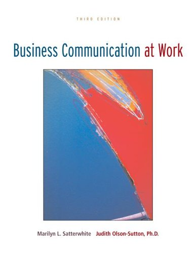 Business Communication at Work with OLC Premium Content Card  3rd 2007 (Revised) edition cover