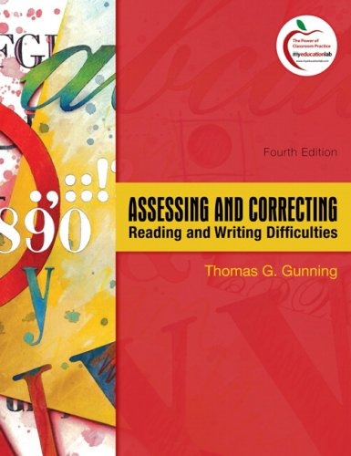 Assessing and Correcting Reading and Writing Difficulties  4th 2010 edition cover