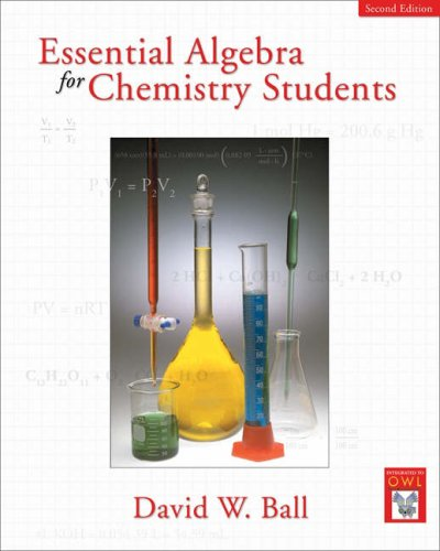 Essential Algebra for Chemistry Students  2nd 2006 (Revised) edition cover