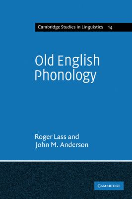 Old English Phonology   2010 9780521136273 Front Cover
