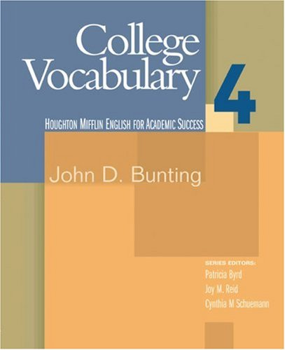 College Vocabulary   2006 edition cover