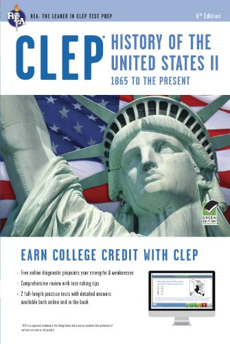 Clep History of the U.S. II W/Online Practice Tests:   2013 edition cover