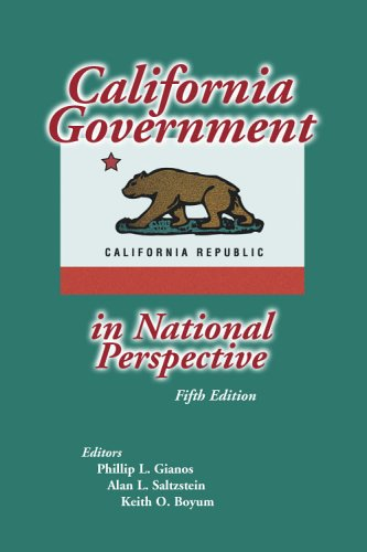 California Government in National Perspective 5th 2005 (Revised) 9780757517273 Front Cover