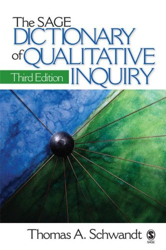 SAGE Dictionary of Qualitative Inquiry  3rd 2007 edition cover
