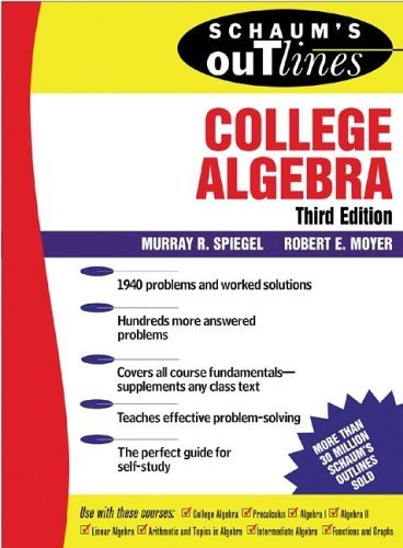 College Algebra  3rd 2006 (Revised) edition cover