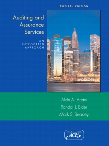 Auditing and Assurance Services  12th 2008 edition cover