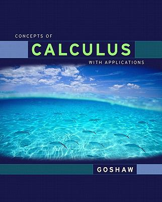 Concepts of Calculus with Applicationsd Edition Value Package (includes MyMathLab/MyStatLab Student Access)   2012 9780321584274 Front Cover
