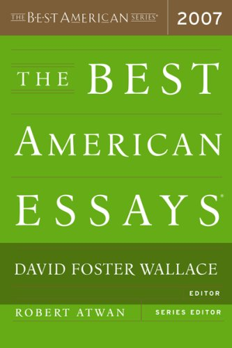 Best American Essays 2007   2007 edition cover