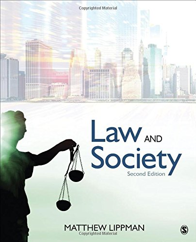 Law and Society  2nd 2018 9781506362274 Front Cover