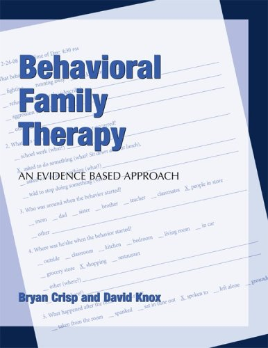 Behavioral Family Therapy An Evidenced Based Approach  2008 edition cover