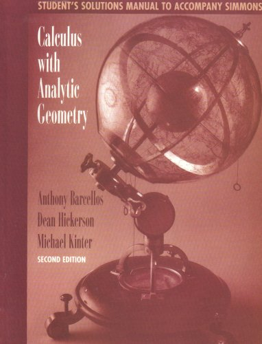 Calculus with Analytic Geometry  2nd 1996 (Revised) edition cover