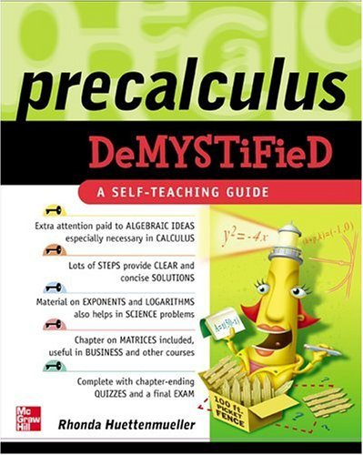 Pre-Calculus Demystified   2005 edition cover