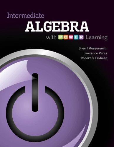 Intermediate Algebra with P. O. W. E. R. Learning   2014 edition cover