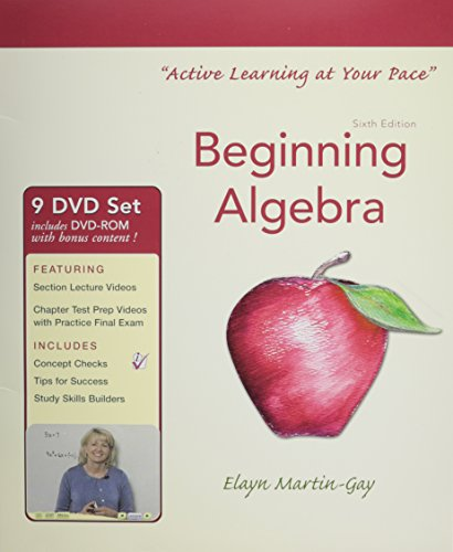 Interactive Dvd Lecture Series for Beginning Algebra:  2012 edition cover