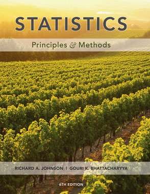 Statistics Principles and Methods 6th 2010 edition cover