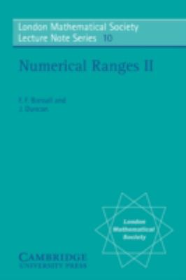Numerical Ranges Ii   1973 9780521202275 Front Cover