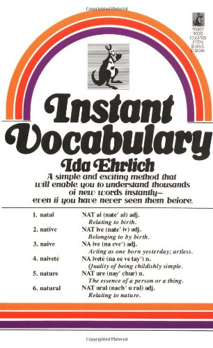 Instant Vocabulary   1988 edition cover