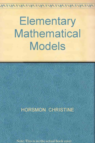 Elementary Mathematical Models  Revised  9780757568275 Front Cover