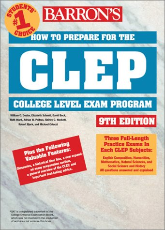 How to Prepare for the CLEP  9th 2003 9780764120275 Front Cover