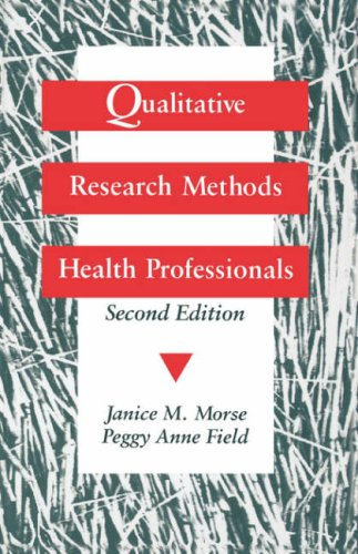 Qualitative Research Methods for Health Professionals  2nd 1995 edition cover
