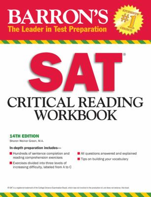 Barron's SAT Critical Reading Workbook, 14th Edition  14th 2012 (Revised) edition cover