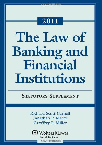 Law of Banking and Financial Institutions 2011 Statutory Supplement  2011 edition cover