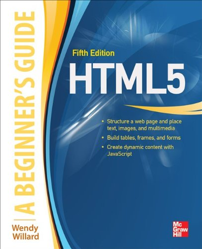 Html5: A Beginners Guide  2013 edition cover