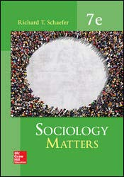 Sociology Matters   2018 9780077823276 Front Cover