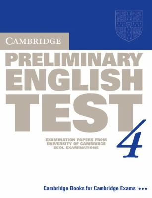 Cambridge Preliminary English Test 4 Student's Book   2003 (Student Manual, Study Guide, etc.) 9780521755276 Front Cover