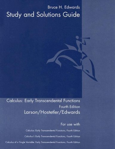 Calculus Early Transcendental Functions 4th 2007 (Guide (Pupil's)) edition cover