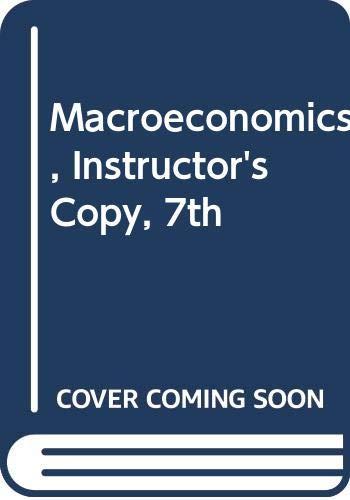 MACROECONOMICS >EXAM COPY< 7th 2008 9780618833276 Front Cover