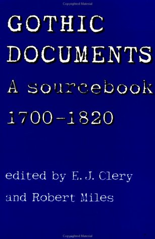Gothic Documents A Sourcebook 1700-1820  2000 edition cover