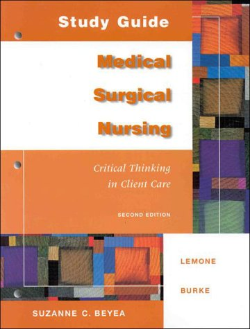Medical and Surgical Nursing 2nd 1999 (Student Manual, Study Guide, etc.) edition cover