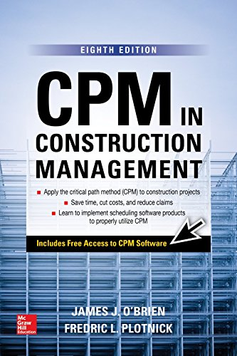 Cpm in Construction Management: 8th 2015 9781259587276 Front Cover