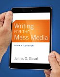 Writing for the Mass Media  9th 2015 9780133863277 Front Cover