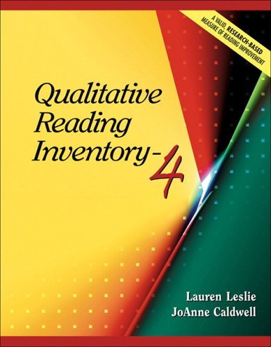 Qualitative Reading Inventory-4  4th 2006 (Revised) edition cover
