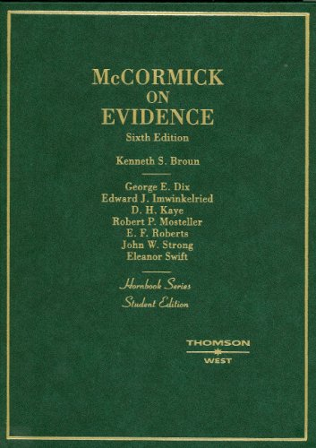 McCormick on Evidence  6th 2006 (Revised) edition cover