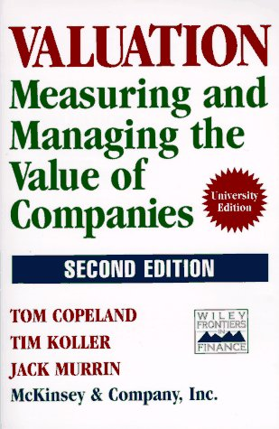 Valuation Measuring and Managing the Value of Companies 2nd 1994 (Revised) edition cover