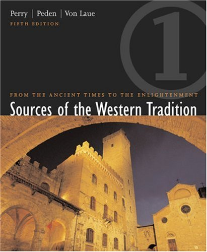 Sources of the Western Tradition From Ancient Times to the Enlightenment 5th 2003 9780618162277 Front Cover