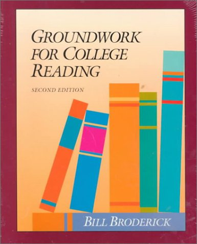Groundwork for College Reading 2nd 1996 9780944210277 Front Cover