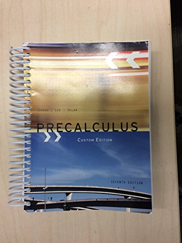 PRECALCULUS >CUSTOM<                    N/A 9781285118277 Front Cover