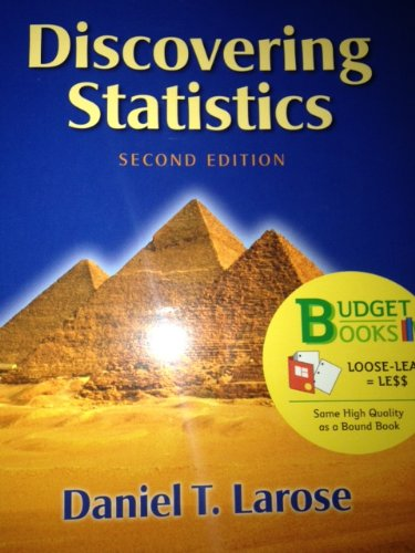 Discovering Statistics (Loose Leaf) W/Student CD and Tables and Formula Card 2nd 2013 edition cover