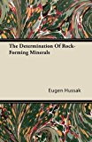 The Determination Of Rock-Forming Minerals  0 edition cover