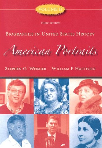 American Portraits Biographies in United States History 3rd 2008 edition cover