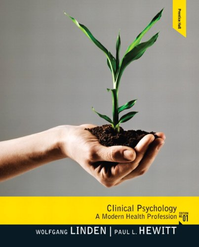 Clinical Psychology A Modern Health Profession  2011 9780132397278 Front Cover