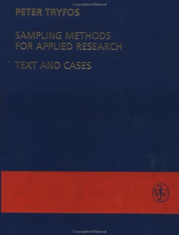 Sampling Methods for Applied Research Text and Cases  1996 9780471047278 Front Cover
