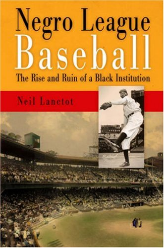 Negro League Baseball The Rise and Ruin of a Black Institution  2004 9780812220278 Front Cover