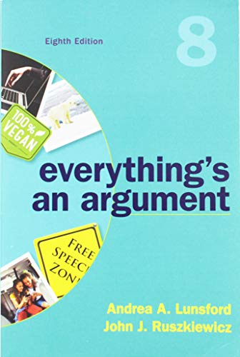 Everything's an Argument:   2018 9781319056278 Front Cover